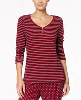 Nautica Striped Double-Knit Pajama Top