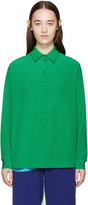 Stella McCartney Green Silk Angeline Shirt