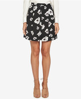 CeCe Floral-Print Pleated Mini Skirt
