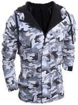 Changeshopping Men's Autumn Winter Sport Camouflage Wind Men Hooded Coat Blouse (XL, )