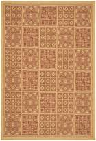 """Safavieh Courtyard Collection CY6947-38 Natural and Brick Indoor/ Outdoor Area Rug, 4 feet by 5 feet 7 inches (4' x 5'7"""")"""