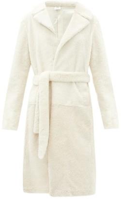 Vetements Longline Shearling Coat - White
