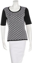 Rag & Bone Patterned Scoop-Neck Top