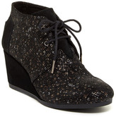 Toms Desert Lace-Up Wedge Bootie