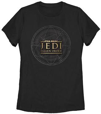 Fifth Sun Women's Tee Shirts BLACK - Star Wars: Jedi Fallen Order Black Map Missy Crewneck Tank - Women, Juniors & Plus