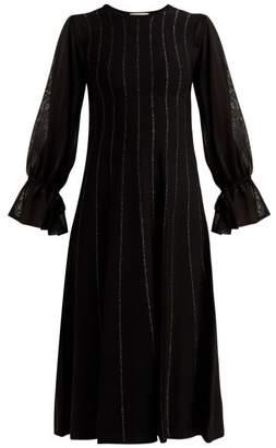Roksanda Tovi Striped Knitted Dress - Womens - Black