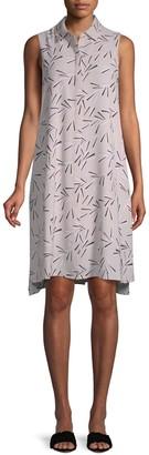 Anne Klein Collared Trapeze Dress