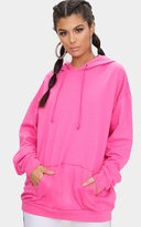 PrettyLittleThing Fuchsia Steph Oversized Hoodie