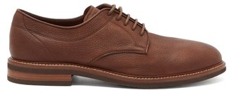 Brunello Cucinelli Unlined Leather Derby Shoes - Dark Brown