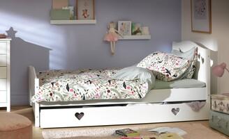 Argos Home Mia White Small Double Bed, Drawer &Kids Mattress