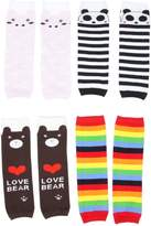 Simplicity 4 Pair Toddler Kids Leggings Tights Pig Panda Bears Rainbow