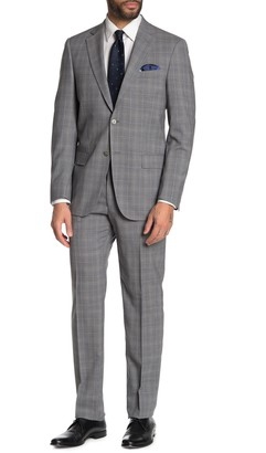 Hart Schaffner Marx Plaid Print New York Fit 2-Piece Suit