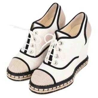 Chanel Beige Cloth Heels
