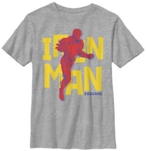 Fifth Sun Marvel Big Boy's Avengers Endgame Iron Man Pop Art Short Sleeve T-Shirt