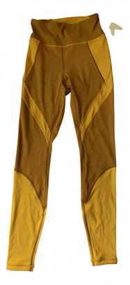 Lululemon Yellow Spandex Trousers