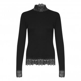 B.young Black 20808964 Toella Lace T Shirt - XS | black - Black/Black