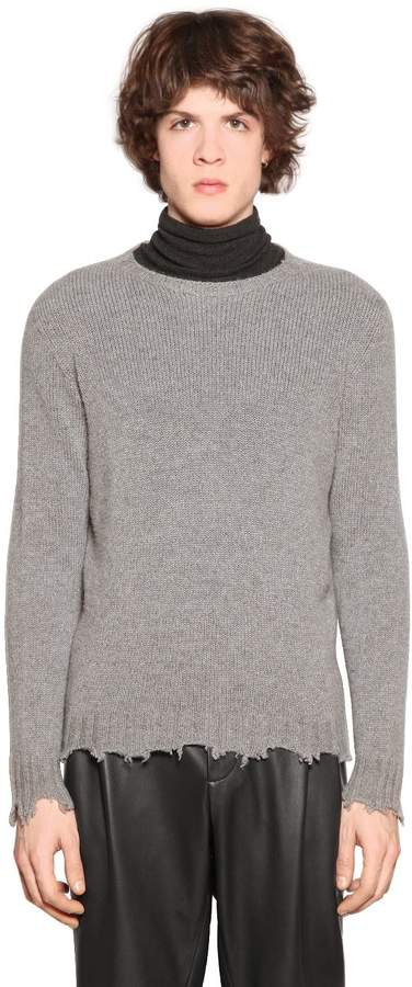 Etro Distressed Cashmere Knit Sweater