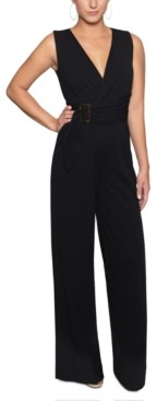 Christian Siriano New York Belted Wrap Jumpsuit