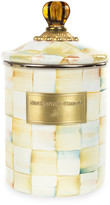 Mackenzie Childs Parchment Check Medium Canister