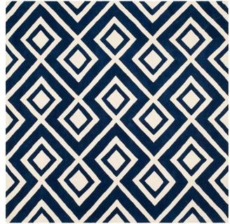 Safavieh Chatham Collection CHT742 Rug, Dark Blue/Ivory, 7' Square