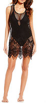 Gianni Bini Mesh Crochet Cover-Up Dress