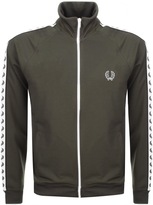 Fred Perry Laurel Taped Track Top Green