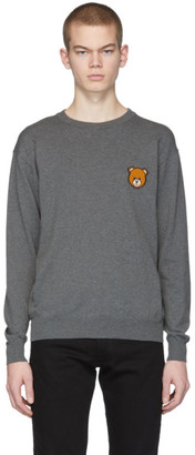 Moschino Grey Teddy Sweater