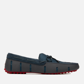 Swims Men's Braided Lace Lux Driver Loafers - Navy/Deep Red
