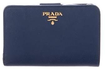 Prada Saffiano Lux French Wallet