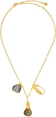 EJING ZHANG 'Dyce' mismatch pendant necklace