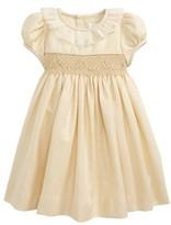 Luli & Me Infant Girl's Jacquard Smocked Dress