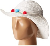 Betsey Johnson Fiesta Panama Hat Traditional Hats