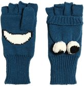 Stella McCartney Eyes Knitted Cotton & Wool Mitten Gloves