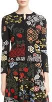 Alexander McQueen Women's Cross Stitch Jacquard Cardigan