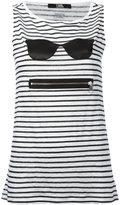 Karl Lagerfeld striped zipped top