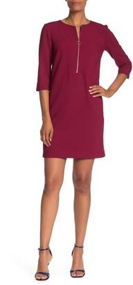 Trina Turk Versed Zip Front Sheath Dress