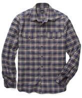 Todd Snyder Flannel Plaid Shirt Grey/Blue