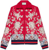 Gucci Jersey jacket with gold embroidery