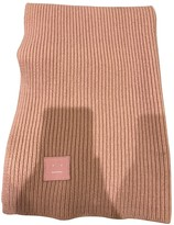 Acne Studios Pink Wool Scarves