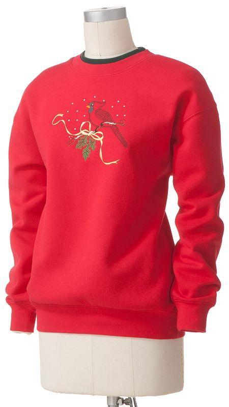 Mccc lurex cardinal sweatshirt