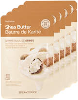 The Face Shop 5Pc Real Nature Shea Butter Face Mask - Moisturizing