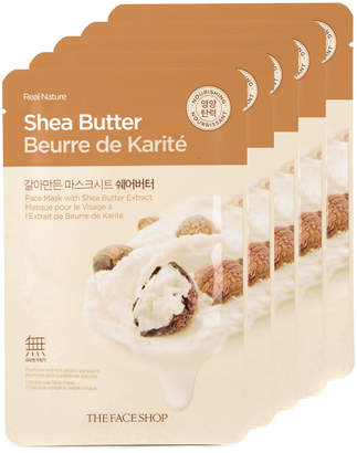 The Face Shop 5Pc Real Nature Shea Butter Face Mask - Moisturizing