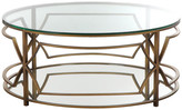 Pangea Home Edward Round Coffee Table, Brass