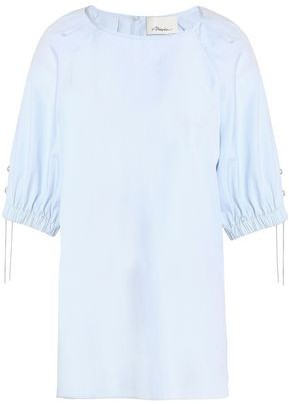 3.1 Phillip Lim Embellished Stretch Cotton-poplin Top