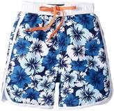 Toobydoo Hawaiian Blue Boardshorts (Infant/Toddler/Little Kids/Big Kids)