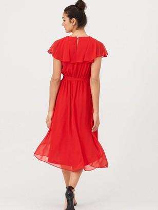 Very Nova Cape Wrap Dress - Red