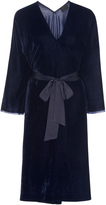 Nili Lotan Rochelle Belted Velvet Dress