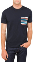 Paul Smith Tee Shirt With Stripe Pocket
