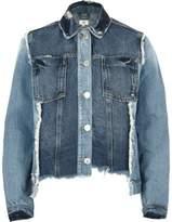 River Island Womens Mid Blue reworked oversized denim jacket