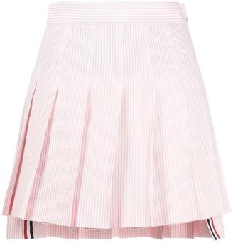 Thom Browne Pinstripe Pleated Mini Skirt